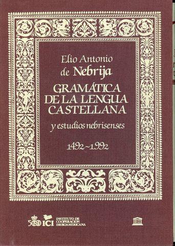 Nacimiento de gramática en castellano