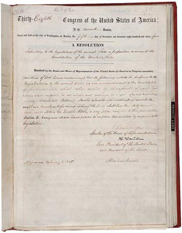 Thirtneeth Amendment