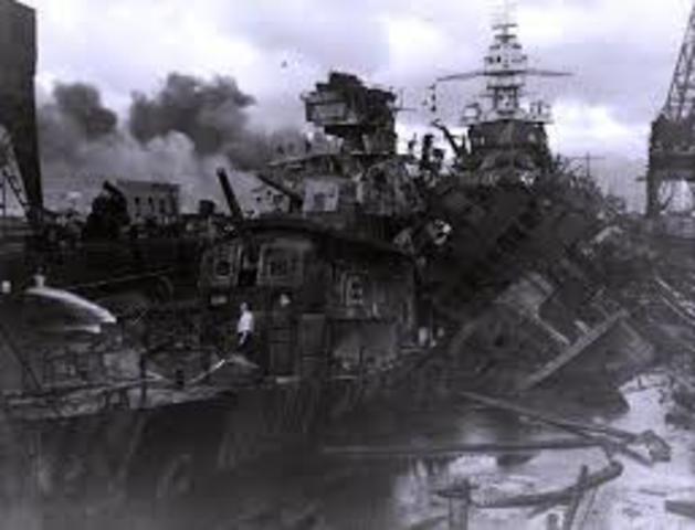 SOC Japón ataca la base naval Pearl Harbor en el pacifico