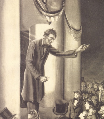 Lincoln Delivers Peoria Speech