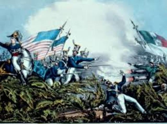 Mexican and American war