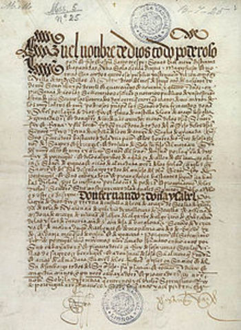 Treaty of Tordesillas (Signed by Spain and Portugal)