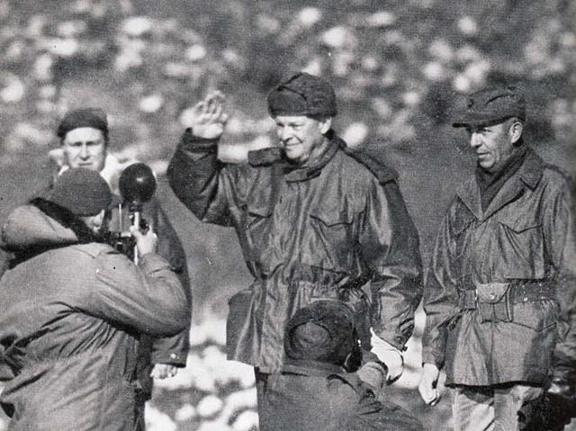 President Eisenhower visits Korea, fulfilling his campaign promise