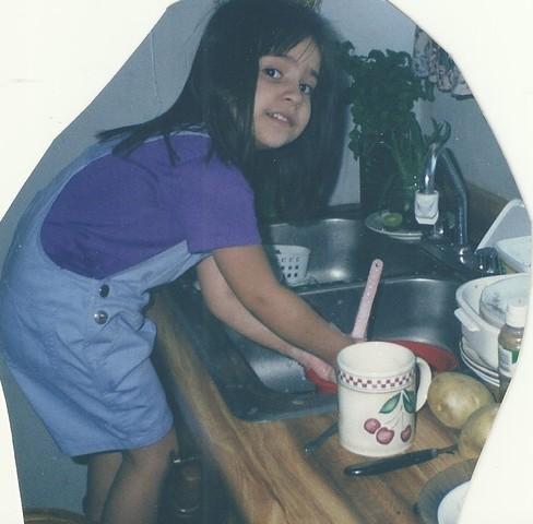 lavando trastes