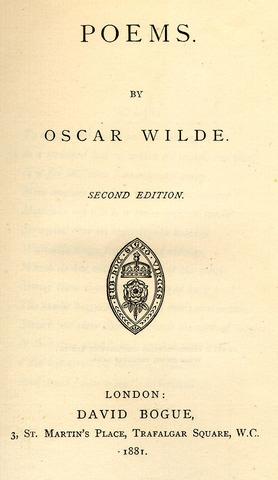 Aparece la primera edición de su obra poética, Poems, publicada por David Bogue