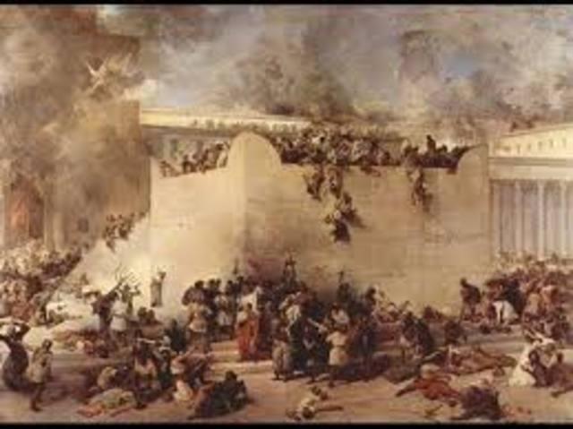 La destrucción de Jerusalén y del Segundo Templo.