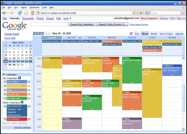 Launch Google Calendar