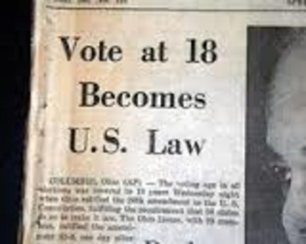 26th Amendment Passed
