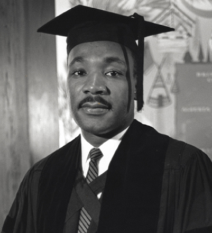 King receives his bachelor of arts degree in sociology from Morehouse College.