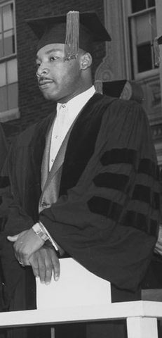 King begins his graduate studies in systematic theology at Boston University