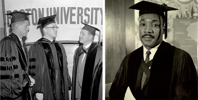 King is awarded his doctorate in systematic theology from Boston University