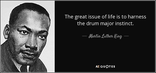 "King presents his sermon ""The Drum Major Instinct"""