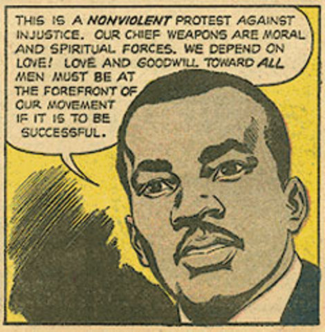 """King writes an article named """"Nonviolence: The Only Road to Freedom"""""""