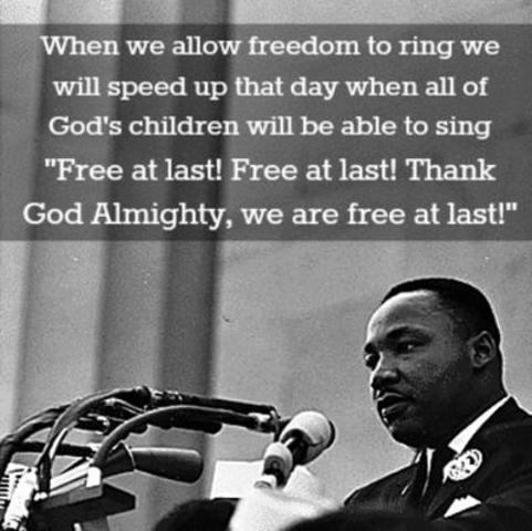 """King gives his infamous """"I Have a Dream"""" speech at the Lincoln Memorial  in Washington DC."""
