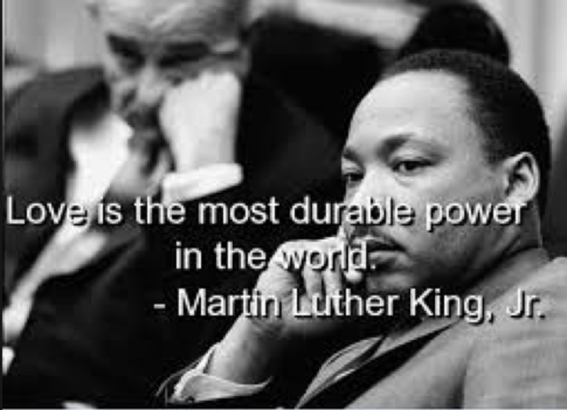 """King gives the speech """"The Most Durable Power"""""""
