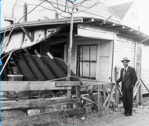King's house in Montgomery is bombed