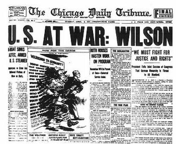 Woodrow wilson and the war