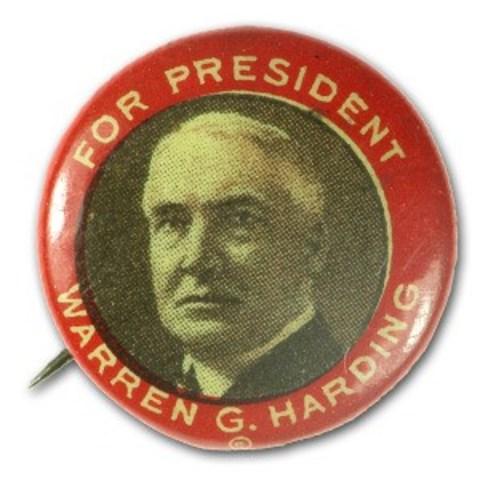 Harding run for president