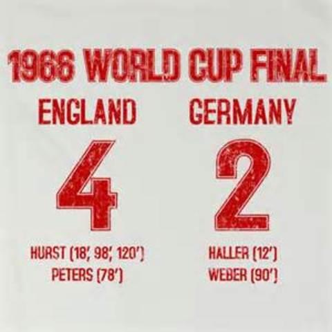 England lift the Joules Rimet Trophy