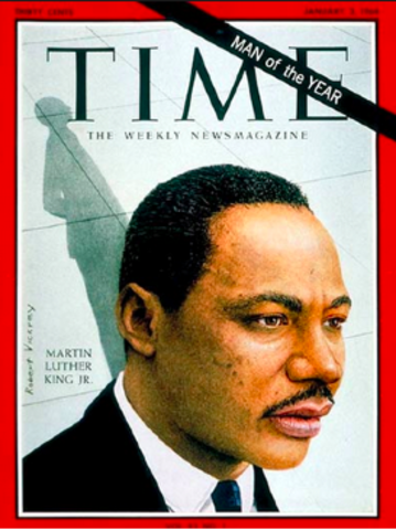 """King is named the """"Man of the Year"""" by TIME Magazine"""