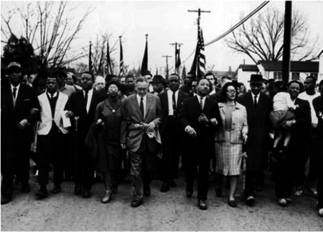 King leads a march from Montgomery, Alabama, to Selma, Alabama.