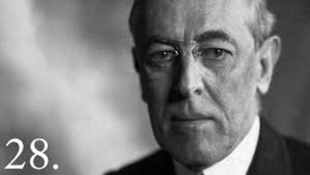 Woodrow Wilsion Continues Progressive Movement