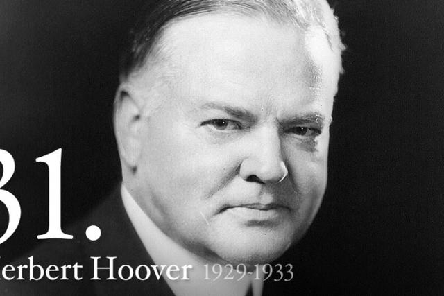 31st President Herbert Hoover