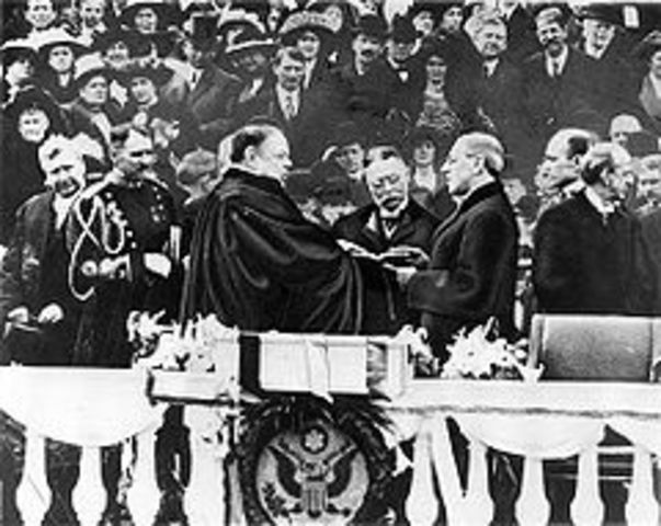 Wilson is inaugurated
