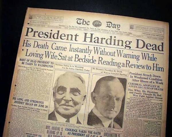 Harding Dies