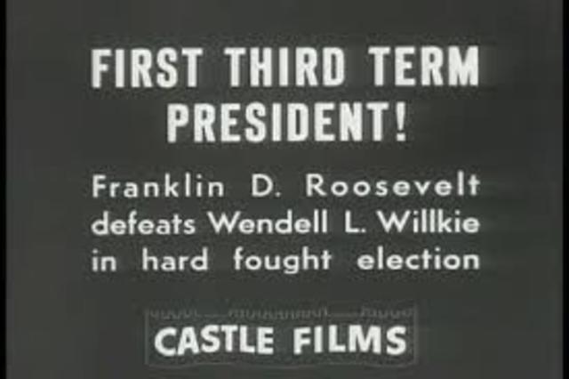 Roosevelt Wins 3rd Term