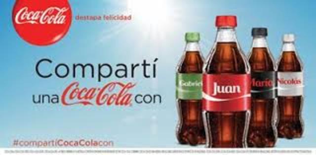 Compartí una Coca Cola con...
