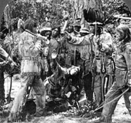 confrontation between Elglish and Powhatan