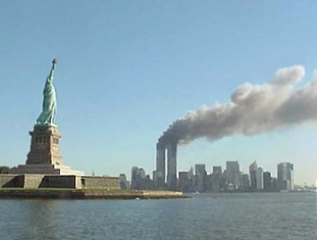 Al Queda suicide bombs the Twin Towers