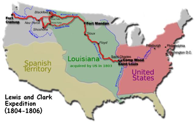 Compra de Luisiana. Estados unidos compra el territorio de Luisiana a Francia por $15'000'000, para expandir su territorio.