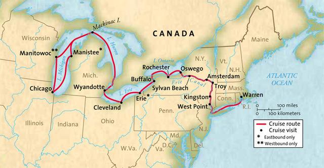 Canal de Erie. Vía fluvial en el norte de Estados Unidos, dentro del estado de Nueva York que permitió la trasportación de mercancía.
