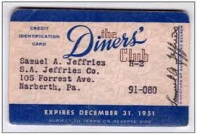 economico:El Diners Club intruduce la primera tarjeta de crédito en new york