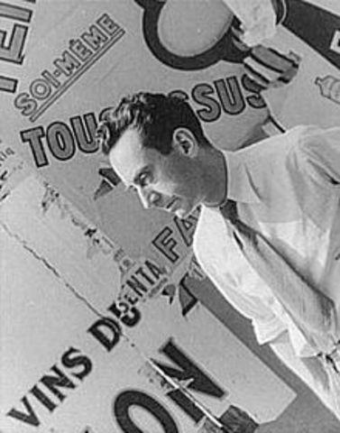 "Man Ray creates ""rayographs"""