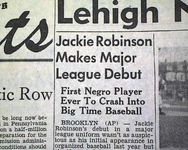 Jackie Robinson makes his Major League Debut