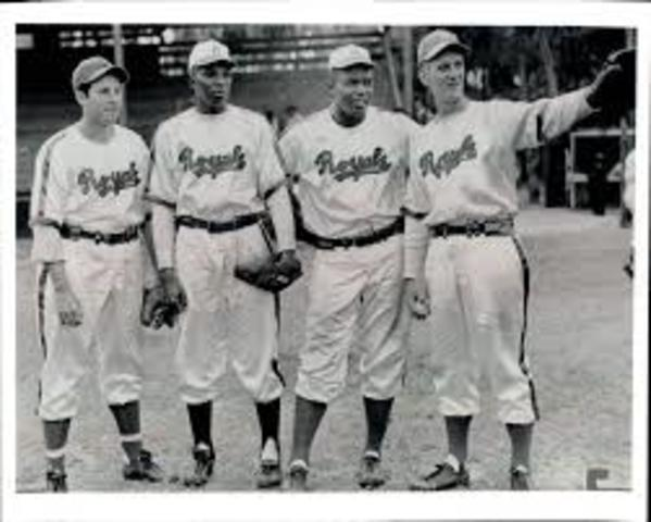 Jackie plays his first professional baseball game for the Montreal Royals