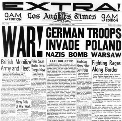 Alemania ataca a Polonia