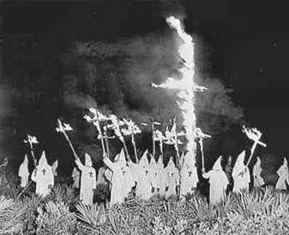 The Klu Klux Klan is reborn