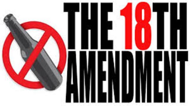 18th Amendment Ratified