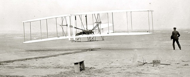 Wright Brothers fly at Kitty Hawk