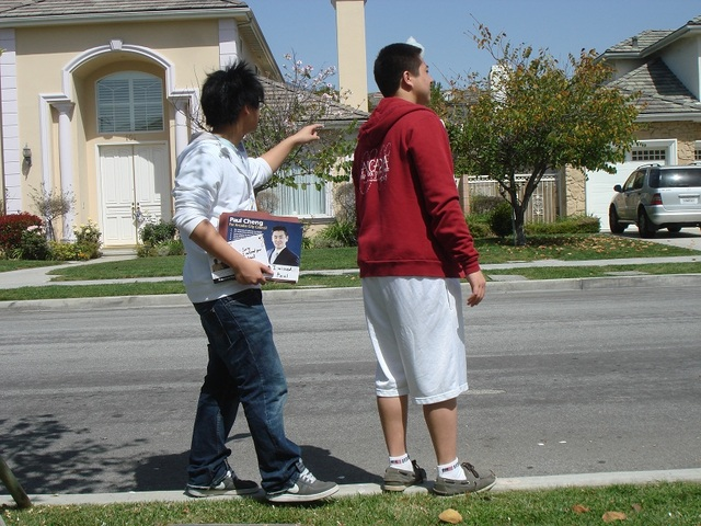 Campaigning with Paul Cheng