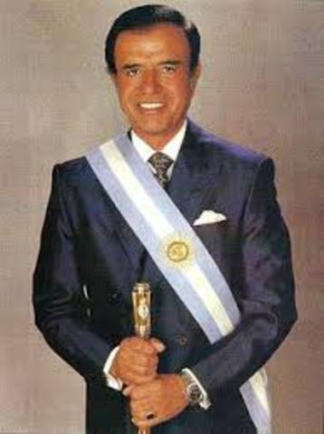 Argentina POL: En las elecciones presidenciales realizadas en mayo triunfa Carlos S. Menem