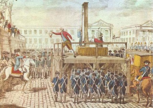 Execution od Louis XVI (France)