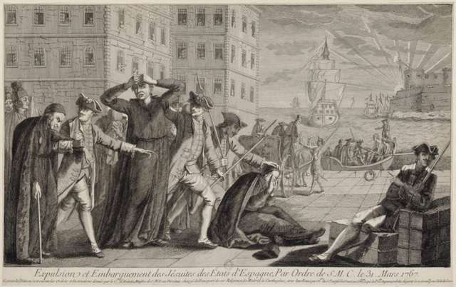 Jesuits expelled by borbons