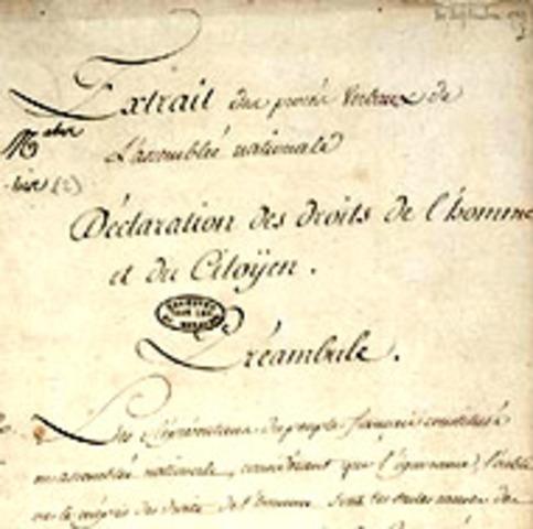DECLARACION DERECHOS DEL HOMBRE Y CIUDADANO