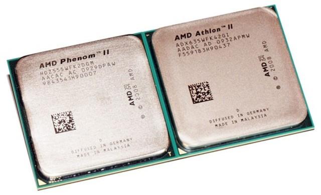 Los AMD Phenom II y Athlon II