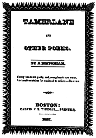Poe enlists in the U.S. Army and shortly after his first book is published.